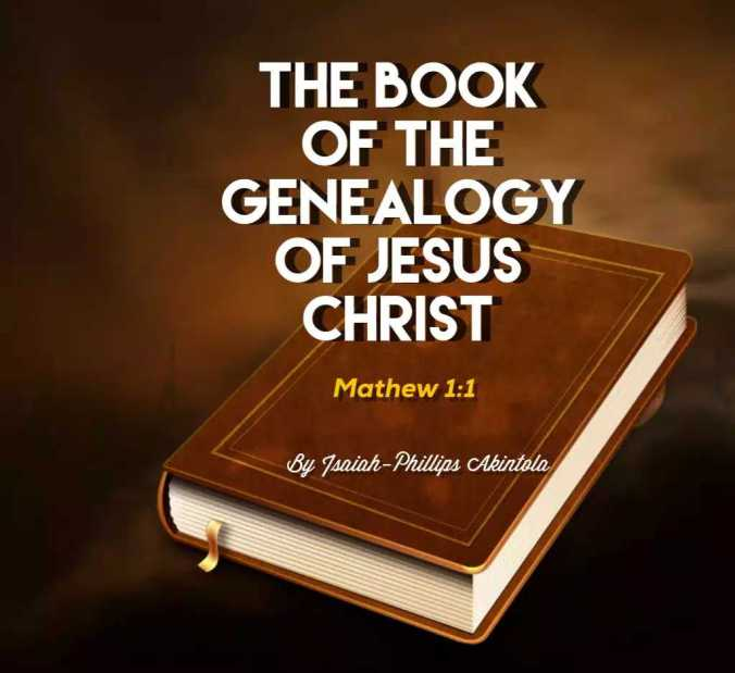the book of the genealogy of christ