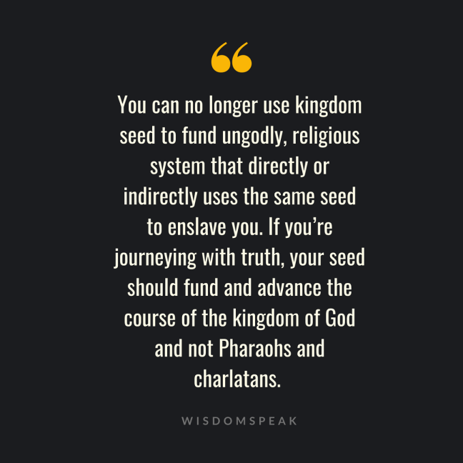your seed and the kingdom of God